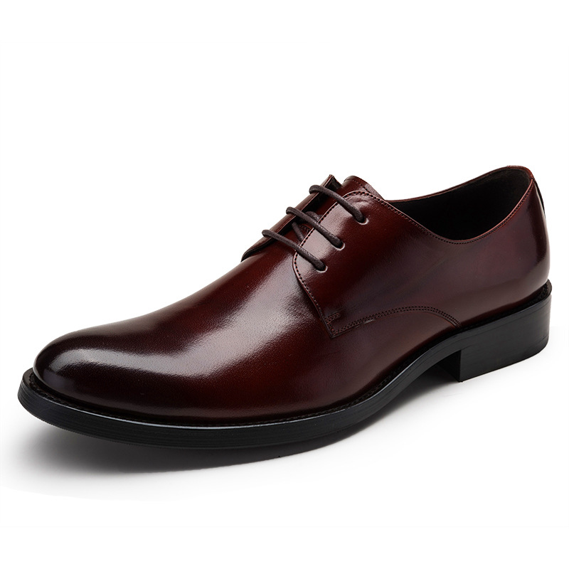 Good Quality Men Genuine Leather Shoes Lace Up Men's Oxfords Flats Wedding Black Brown formal shoes 2017 men shoes fashion genuine leather oxfords shoes men s flats lace up men dress shoes spring autumn hombre wedding sapatos