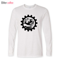Autumn Mens Casual T Shirts Industrial Welding Man Printed Brand Clothing O Neck Long Sleeve Man