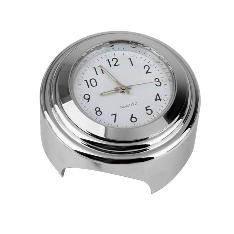 """2 Unids Billet Aluminio 7/8 """"1"""" Manillar Motocicleta Moto Reloj Digital Termómetro Montaje Dial Universal Accesorio de La Motocicleta"""