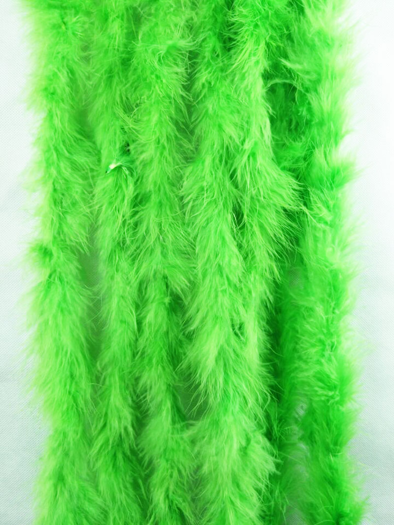 Wholesale 10pcs/lot 18g/piece Graceful Dyed apple green Marabou Feather Boas 2 meter long each pc