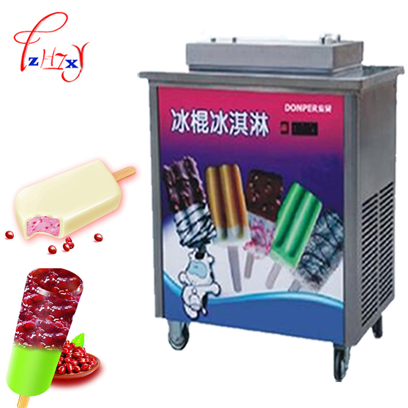 100 - 120 Pcs / H In Commercial Stainless Steel Machine ZX40A Popsicle Ice Cream Lolly Machine Hard Stick Ice Cream Maker 1PC