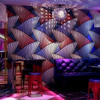 PVC Deep Embossed Wallpaper Modern Simple 3D Glitter Wall Paper KTV Bar Clubs Background Wall Covering Fashion Papel De Parede
