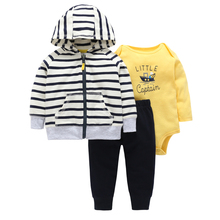 2019 Real Time-limited Full Official Store Roupa Infantil For Bebek Baby Boy Cute Whale Coat Pants Mixed Color 3 Piece