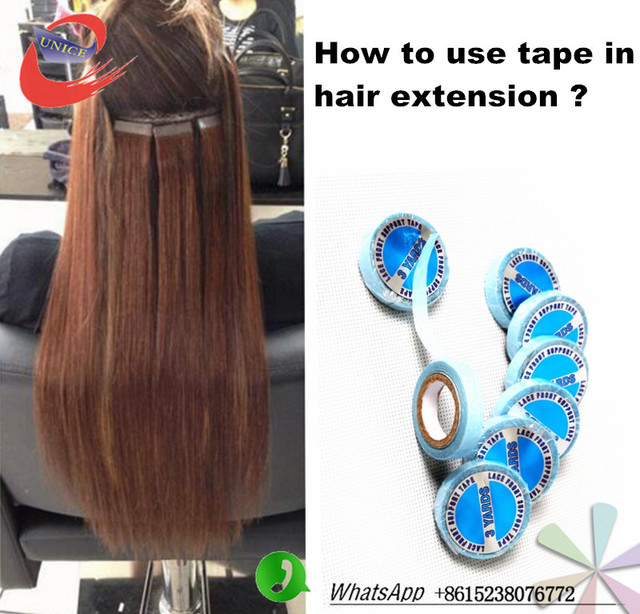 Tape Hair Extensions Wide Blue Tape 3yard Blue Color Glue Tape For