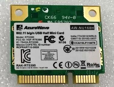 AzureWave AW-NE155H AW-NU168H RT5390 150Mbps 802.11b/g/n Half  Mini PCIe PCI-Express Wlan Wireless Wifi Card