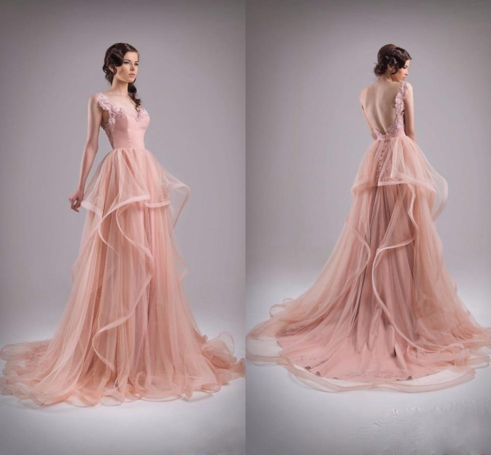 Encantador Vestido Corto A Largo Prom Embellecimiento - Ideas de ...