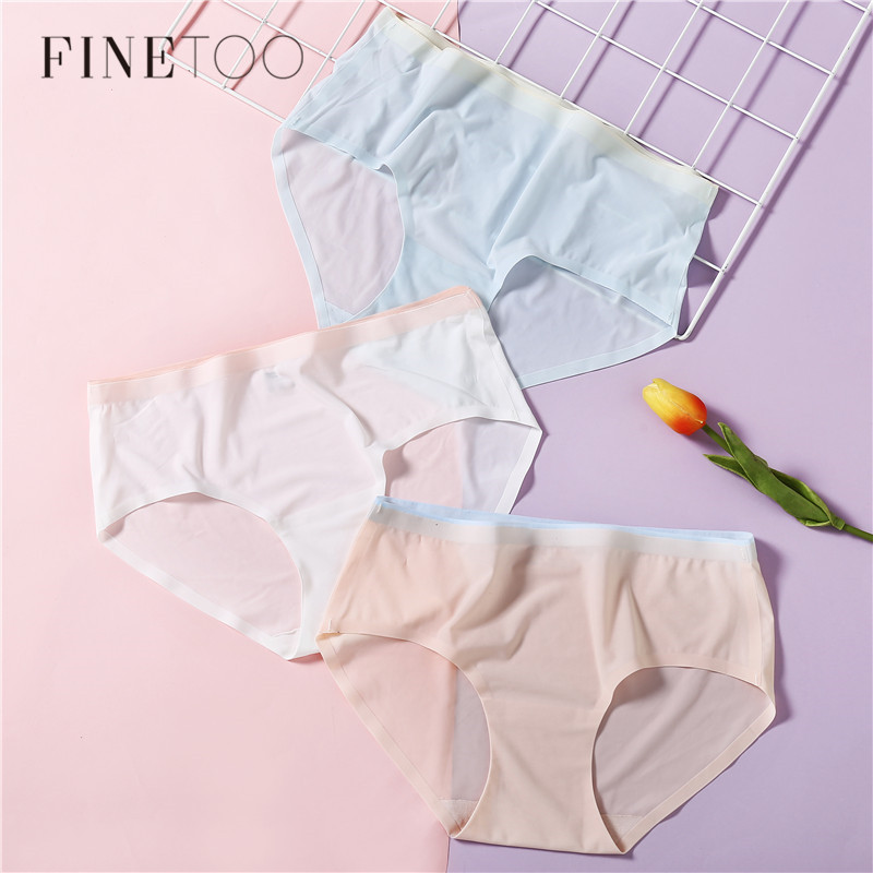 Ultrathin Seamless   Panty   Silk Briefs For Women Comfortable Underwear Fashion Female Underpants Soft Women's   Panties   Intimates