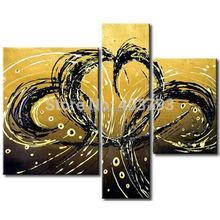 MODERN ABSTRACT HUGE LARGE CANVAS ART OIL PAINTING  abstract Double phoenix fly no framed