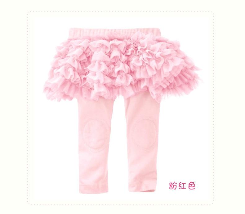 Hp-01; обтягивающие длинные однотонные леггинсы для маленьких девочек с оборками; юбка для От 0 до 3 лет - Цвет: PINK