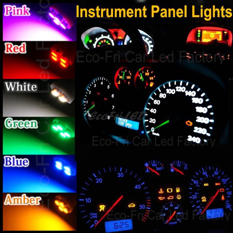 Aggressive New 10pcs T5 12v Led Blue Car Wedge Dashboard Dash Gauge Light Lamp Bulb Professional Lighting Lights & Lighting