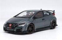 1:18 литья под давлением модели для Honda Civic Type R 2016 Серый сплав игрушечный автомобиль миниатюрный коллекция подарки TypeR MK10
