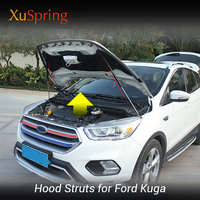 Refit Car Front Hood Cover Hydraulic Rod Strut Spring Shock Bar Car Styling For Ford Kuga Escape C520 2013 2015 2017 2019