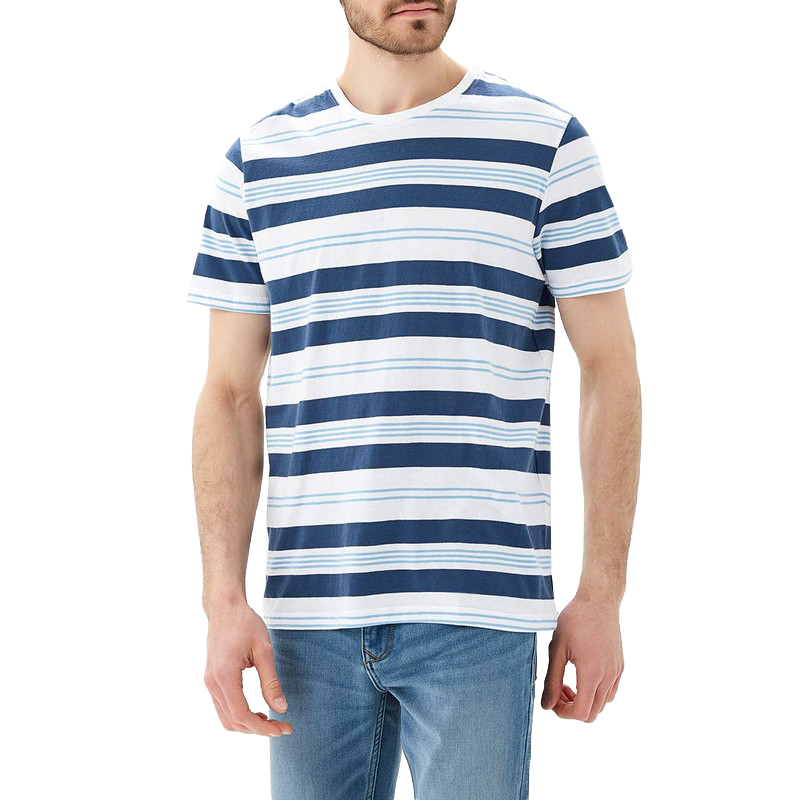 T-Shirts MODIS M181M00191 t shirt shirt cotton for male TmallFS zigzag single pocket t shirt