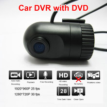 Buy online Mini Wide Angle HD 720P Car DVR with DVD connectoer video and audio Recorder Dash Camera Video Register G-sensor