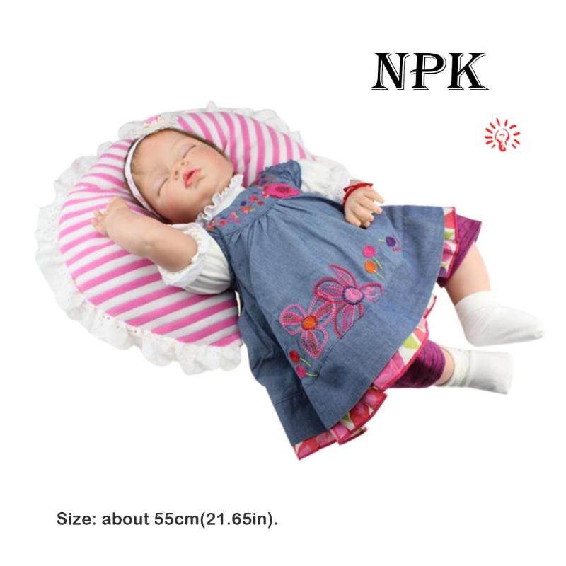 55cm NPK High Quality Silicone Adora Lifelike Bonecas Baby Reborn Realistic bebe bjd doll reborn for girl Gift Photography Prop