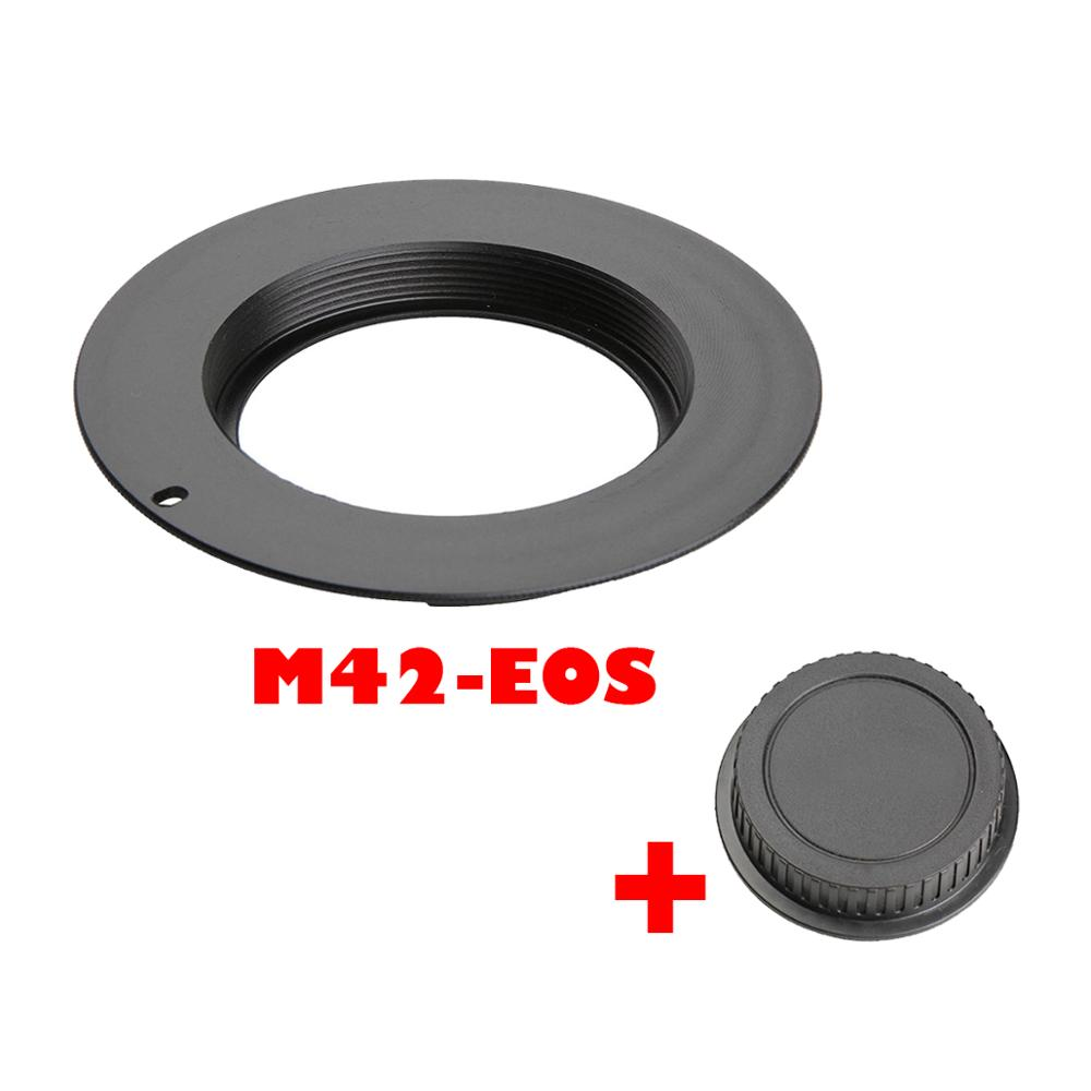 M42 Lens Adapter For Nikon AI Camera/Canon EF/EOS Camera With Rear Cap M42-EOS M42-NIk Lens Adapter