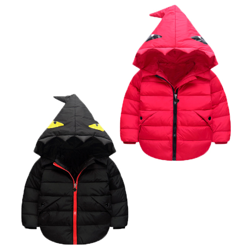 The new 2017 winter warm down jacket children boys and girls children's clothing Little monster thin hooded down jacket 2016 winter new soft bottom solid color baby shoes for little boys and girls plus velvet warm baby toddler shoes free shipping