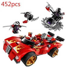 452pcs X-1 Charger einly Temple Block Activate Interceptor Car Series LBlock Master Blocks 70727 Toys