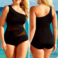 Women S Sexy Plus Size Swimsuit Siamese Shoulder Monokini One Piece Swimwear
