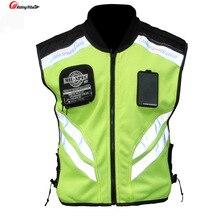 Rding gilet réfléchissant pour MOTO, veste de course tout terrain, sans manches, pour MOTO, pour la nuit, vêtements pour Motocross