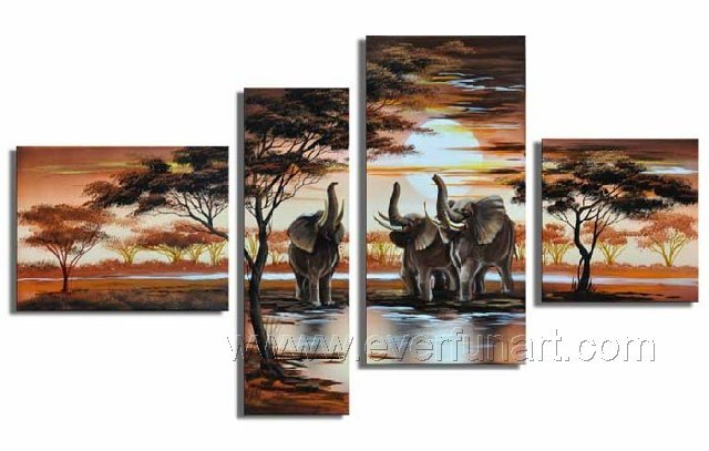 Free Shipping ! Framed ! High Quality Handpainted Wall
