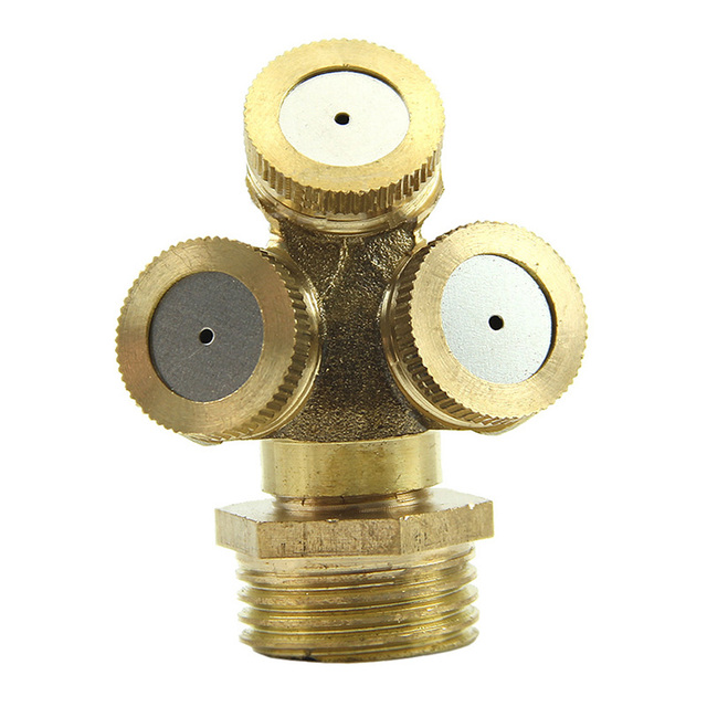 1PC Brass Agricultural Misting Spray Nozzle Garden Sprinkler Irrigation System NB0373