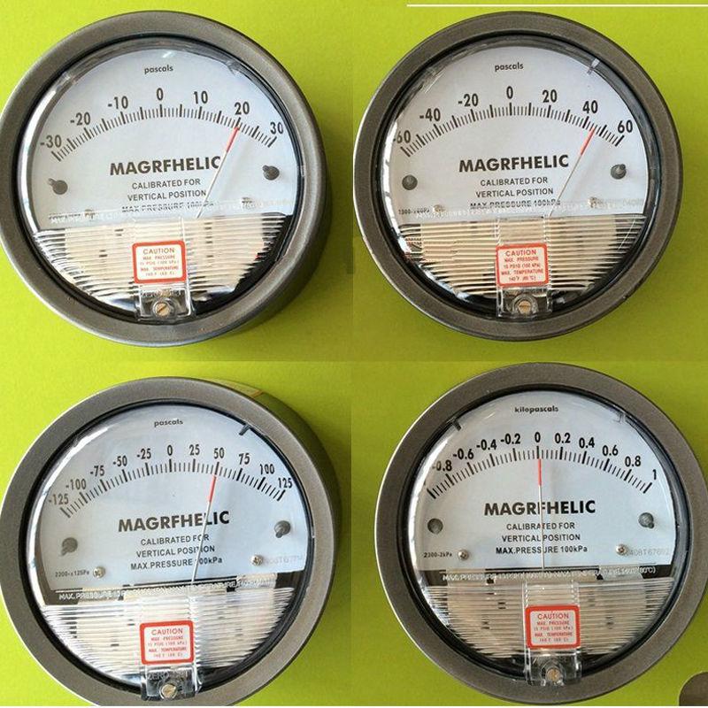 +/-125pa Digital Analog differential pressure table pressure difference meter negative pressure meter the newest digital manometer air pressure meter pressure gauges handheld u type differential pressure meter
