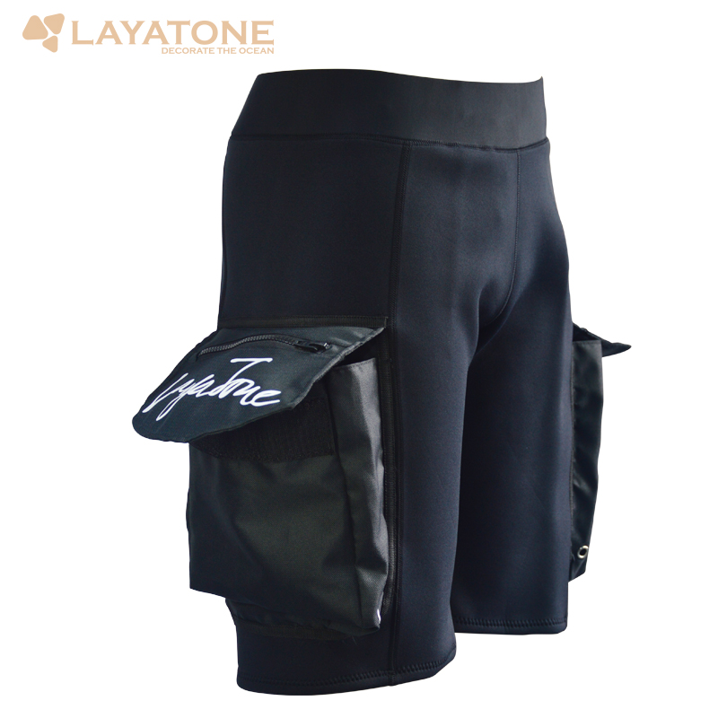 3mm Neoprene Scuba Diving Wetsuit Cargo Weight Shorts Short Pants Trousers With Thigh Pocket Men For Surfing Swimming Fnorkeling