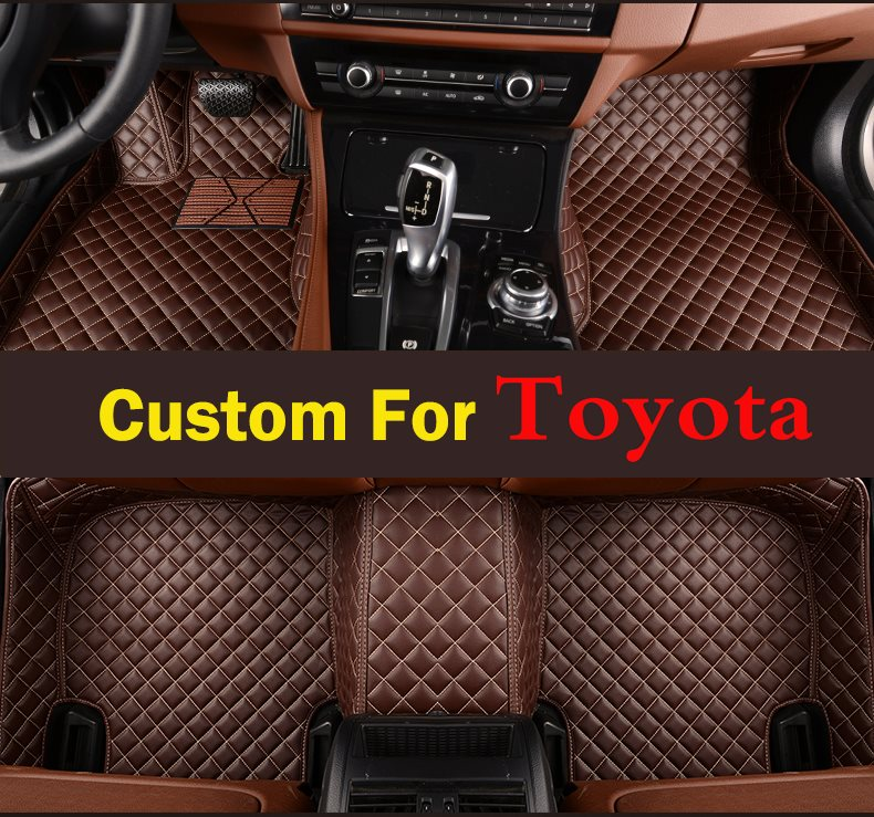Car Lovely Styling Customized Perfect New For Toyota Highlander 2008-2013 Car Floor Mats Liner Front And Rear Carpet Mat