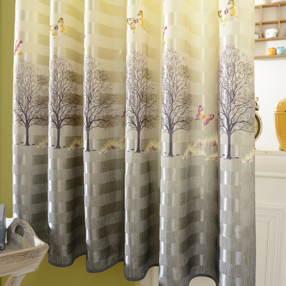 Short Curtains For Bedroom Aliexpresscom Buy Butterfly Blackout Short Window Curtains For