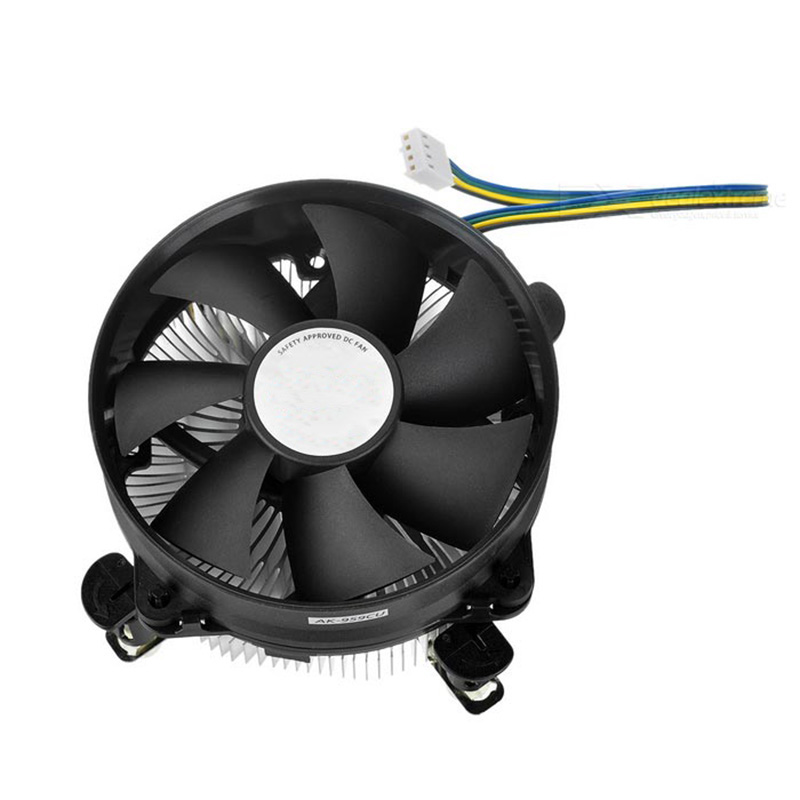 4Pin PWM Fan Double Platform Radiator Aluminum CPU Cooling Fan Cooler 12V DC Processor Cooler Heatsink For Intel LGA775 LGA115X akasa cooling fan 120mm pc cpu cooler 4pin pwm 12v cooling fans 4 copper heatpipe radiator for intel lga775 1136 for amd am2