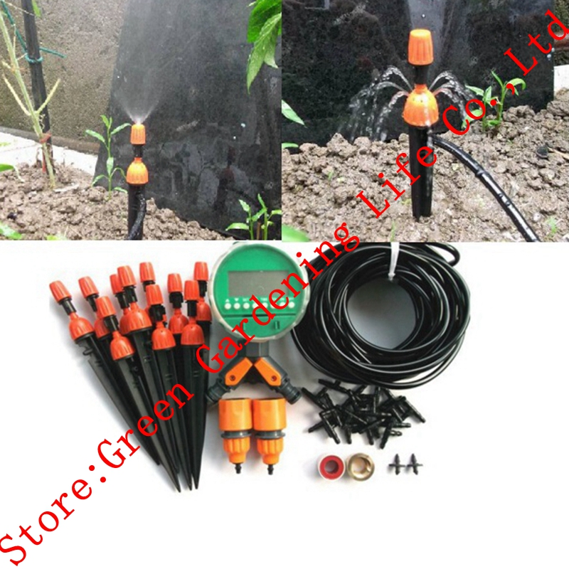 20 m 4/7mm Tuyau Réglable Système D'irrigation Goutteur D'arrosage Kits Extérieure Système D'irrigation Arroseurs de Jardin Jardin Fournitures