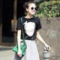 2017 New Fashion Short Sleeve Women T-Shirt Alien Kawaii Top Tees For Women Loose Harajuku Summer Tops Bts