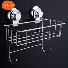 super suction cup 304 stainless steel Bathroom caddy shower basket heart shape kitchen rack storage basket basket shelf