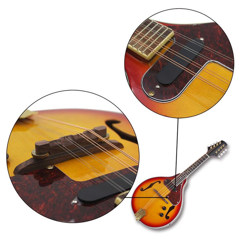 Un Type hêtre boîte électrique acoustique-électrique mandoline Piano 8 cordes guitare musicale à cordes Instruments amoureux cadeau - 3