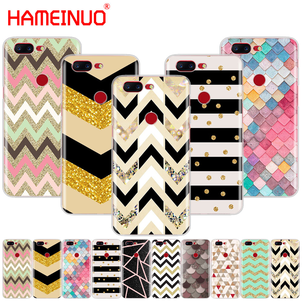 HAMEINUO stripe gold <font><b>glitter</b></font> Wavy pattern cover phone <font><b>case</b></font> for <font><b>Oneplus</b></font> one plus 5T 5 <font><b>3</b></font> 3t 2 A3000 A5000 image