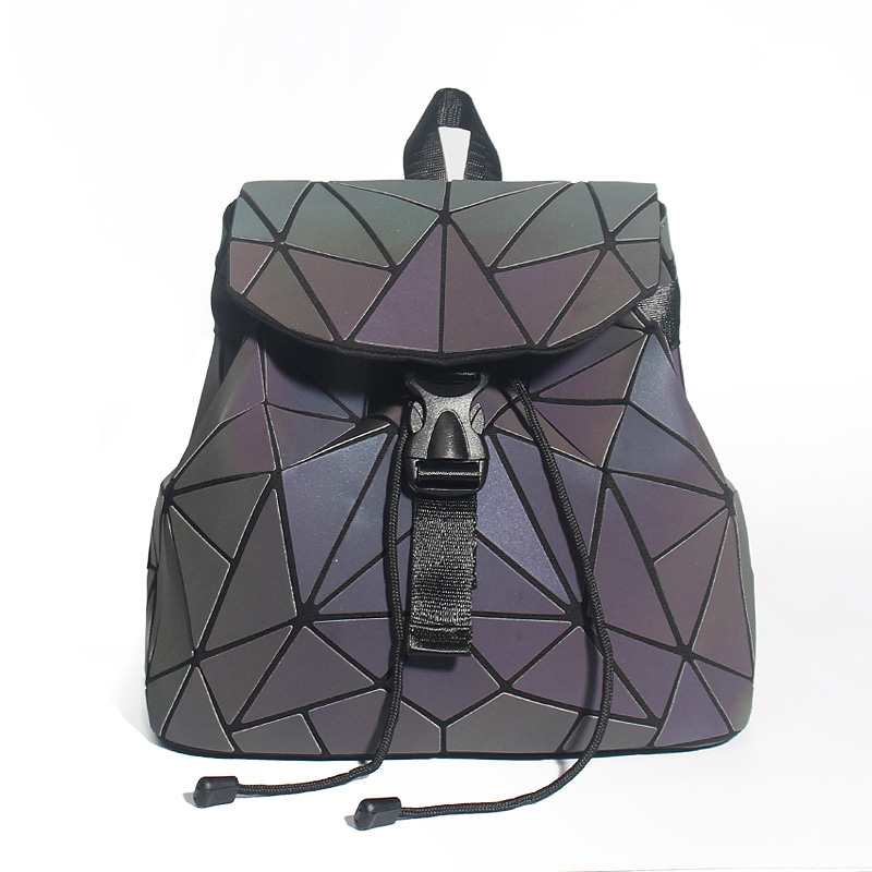 Women Backpack Diamond Lattice Geometry Quilted School Bag Backpacks For Teenage Girl Luminous School Bags Holographic MochilaWomen Backpack Diamond Lattice Geometry Quilted School Bag Backpacks For Teenage Girl Luminous School Bags Holographic Mochila