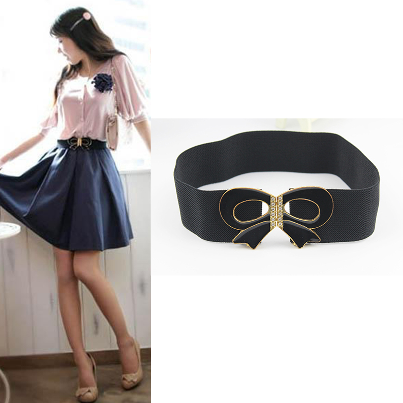 Sweet decorative waist bow//Lady dress belt//simple Joker smooth buckles belts