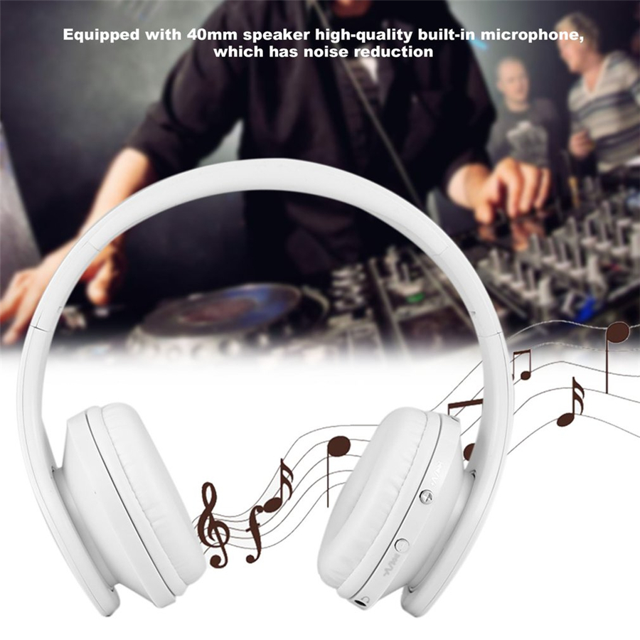 Bluetooth headset Wireless Bluetooth Foldable Stereo Headset Handsfree Headphones Mic for iPhone 7 8 Samsung Galaxy s8 Note 8