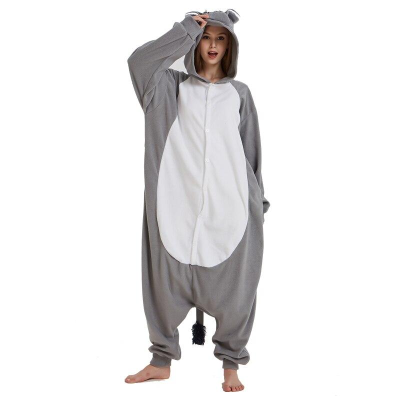Men Adult Funny Cute Rhinoceros Gray Pajamas Cosplay Costume Animal Onesies Rhino Sleepwear (4)