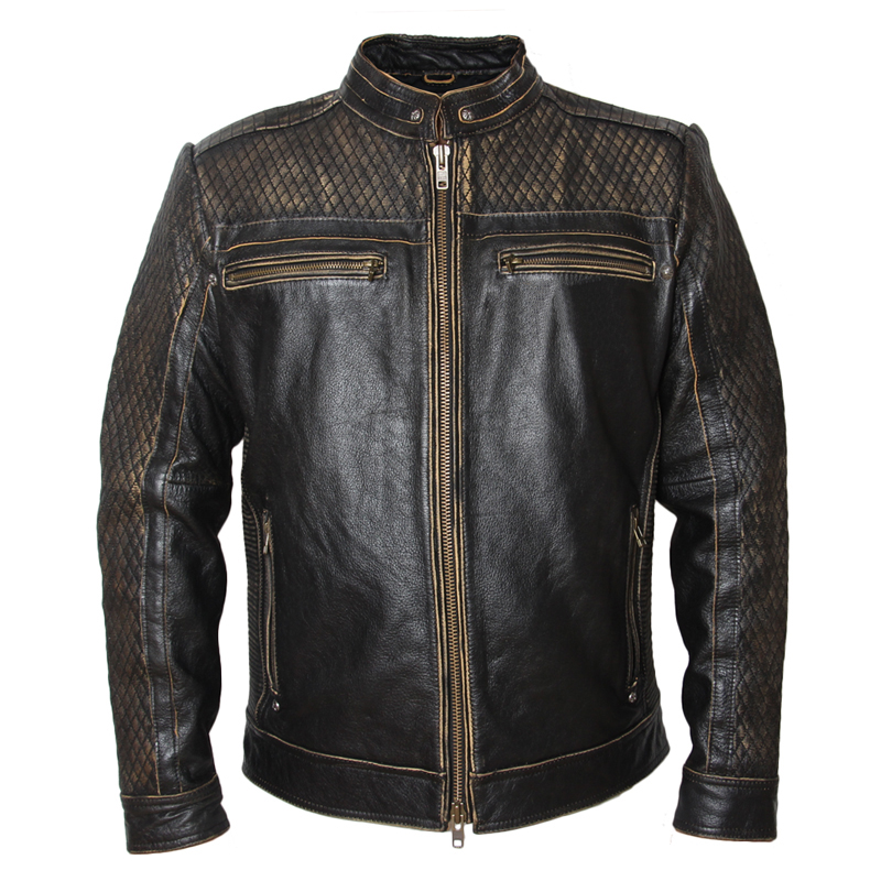185d24b2b US $199.99 20% OFF|MAPLESTEED Vintage Motorcycle Jacket Men's Leather  Jacket Cowhide Black Skull Genuine Leather Jacket Men Biker Coat Winter  091-in ...