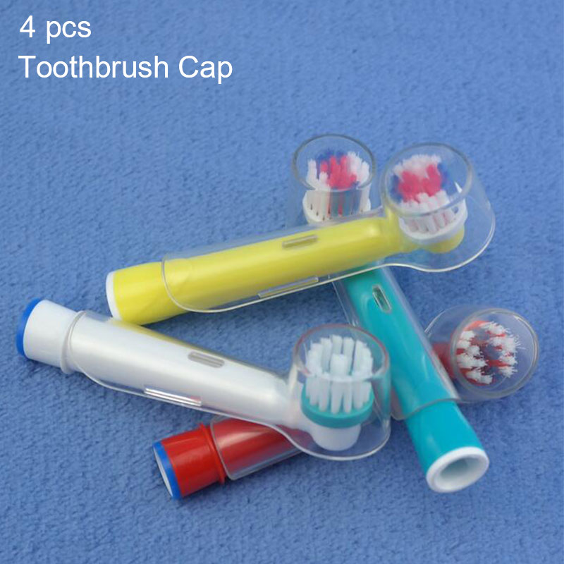 4pcs Transparent Toothbrush Cover For Oral B Electric Toothbrush Head Travel Dustproof Keep Clean Braun Protective