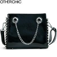 OTHERCHIC Fashion Patent Leather Women Handbag Brand Shoulder Bag Chain Messenger Bag Small Size 2018 Spring