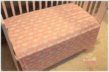 Высокое качество 150 х 100 см горячая для новорожденного подарок Милый кит Розовый и Голубой Детские кроватки кровать лист 100% хлопок