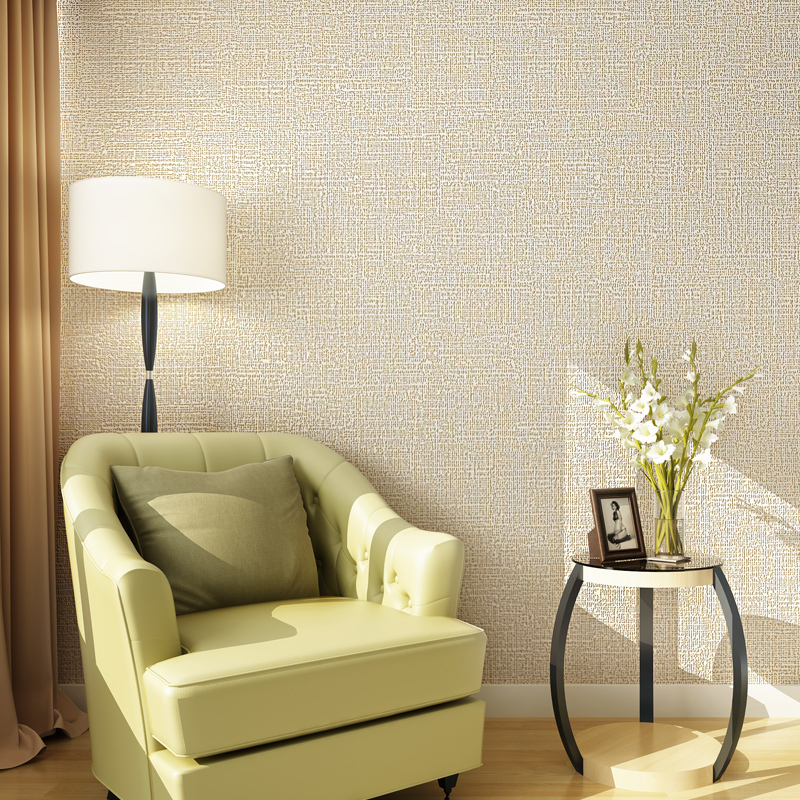 Non woven Wallpaper Wall Covering Modern Design Solid ...