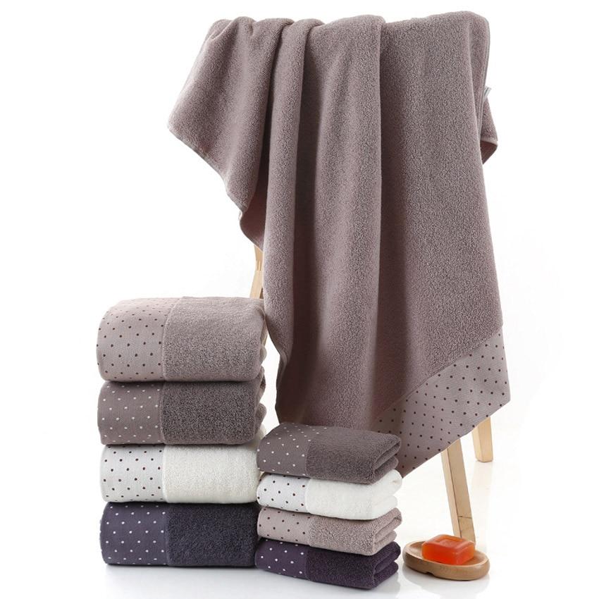 Image 4 - Large Cotton Bath Shower Towel Thick Towels Home Bathroom Hotel For Adults Kids Badhanddoek Toalha de banho Serviette de bain-in Towel Sets from Home & Garden