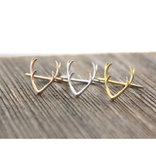 Yiustar New Fashion Jewelry Rings Cute Animal Deer Antler Rings for Women Stag Animal Ring Party Valentine and Wedding Gifts