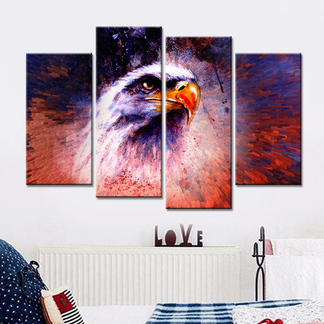 Drop shipping Wall Art Canvas Prints Animals Lion King Oil Pictures ...