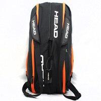 Голова теннисная сумка большой емкости спортивный рюкзак с обувью сумка может держать 6-9 ракетки большая сумка мужская ракетка теннис