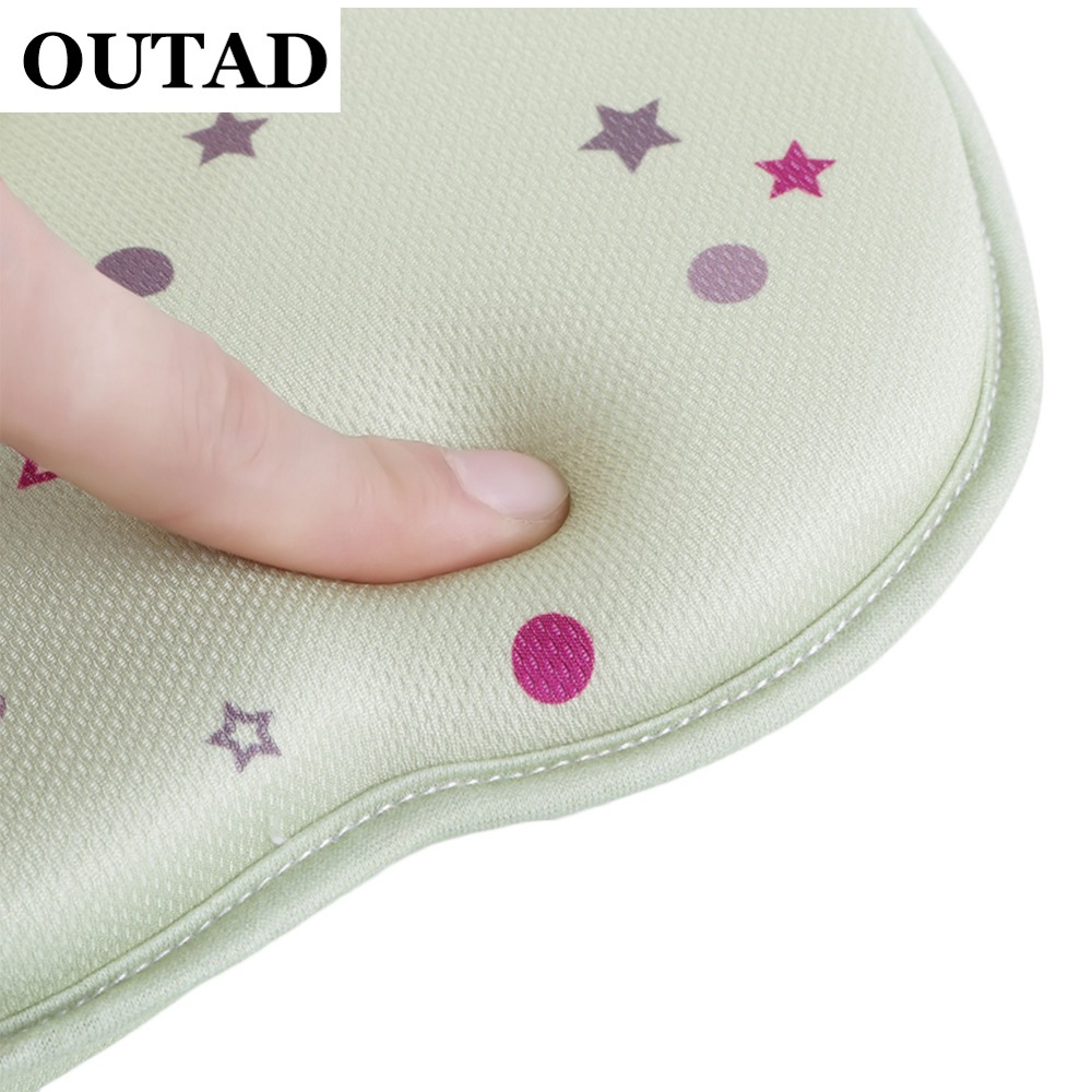 OUTAD Commfortable Baby Pillow Newborn Toddler Safe Anti Roll Infant Pillow Sleep Head Positioner Preventing Flat Head Almohadas